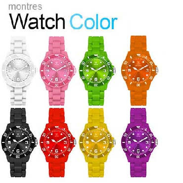 Montre Color Watch Blanc pour 10€