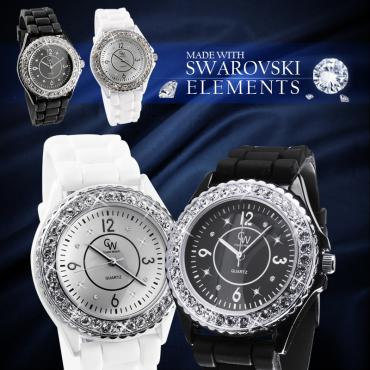 Montre Quartz cristaux Swarovski® Elements pour 20€